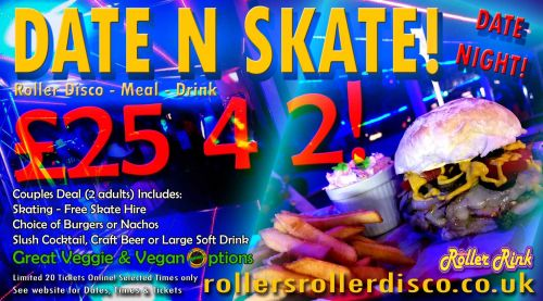 Date Night Burger and Skate M2019