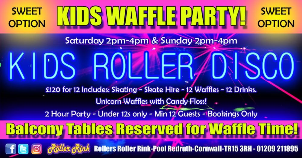 Kids Waffle & Skate Roller Disco Party Deal Summer 2019