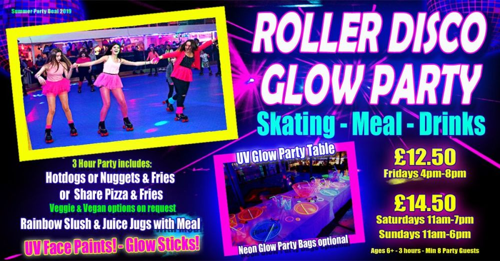 Roller Disco UV Glow Party Summer Party 2019