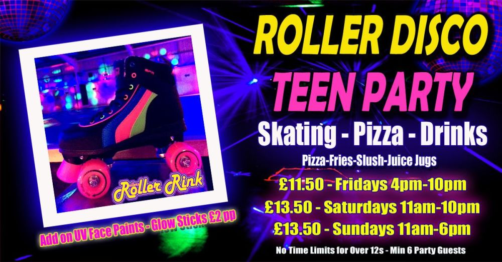Roller Disco Teen Pizza Party Summer 2019