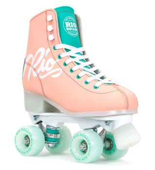 Rio Roller Script Roller Skates in Peach & Green - SALE £10 OFF