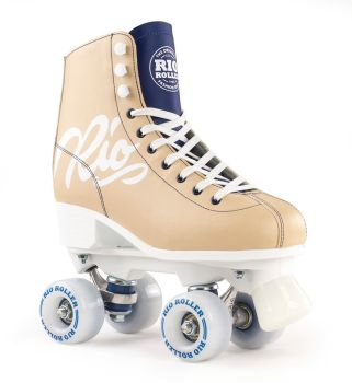 Rio Roller Script Roller Skates in Tan - SALE £10 off