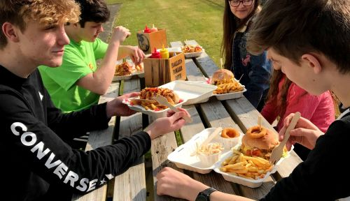 Picnic Burgers and Hotdogs at the Rollers Roller Rink Cornwall