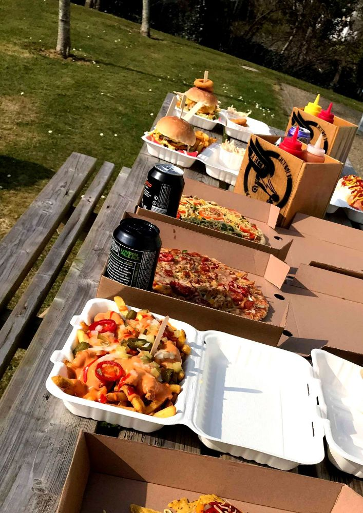 Picnic Party Feast at the Rink Cornwall