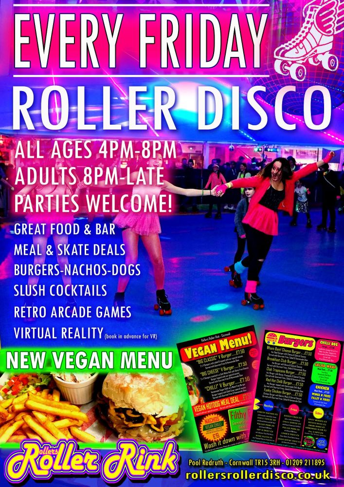 Friday Night Roller Disco Burger and Skate April 2019