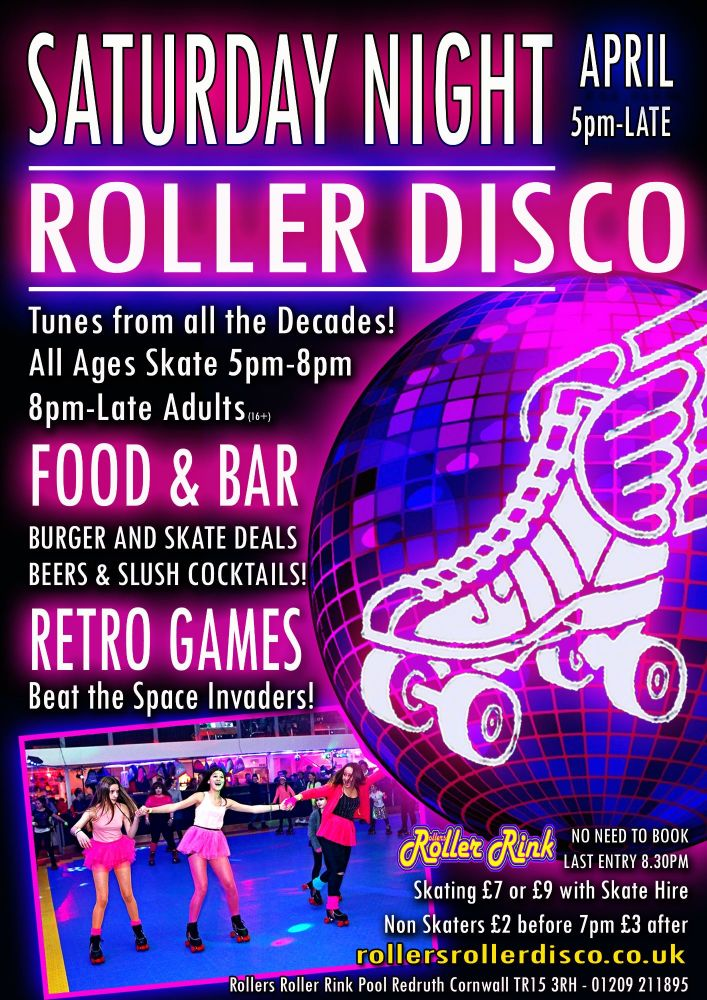 Saurday Night Roller Disco Burger and Skate April 2019