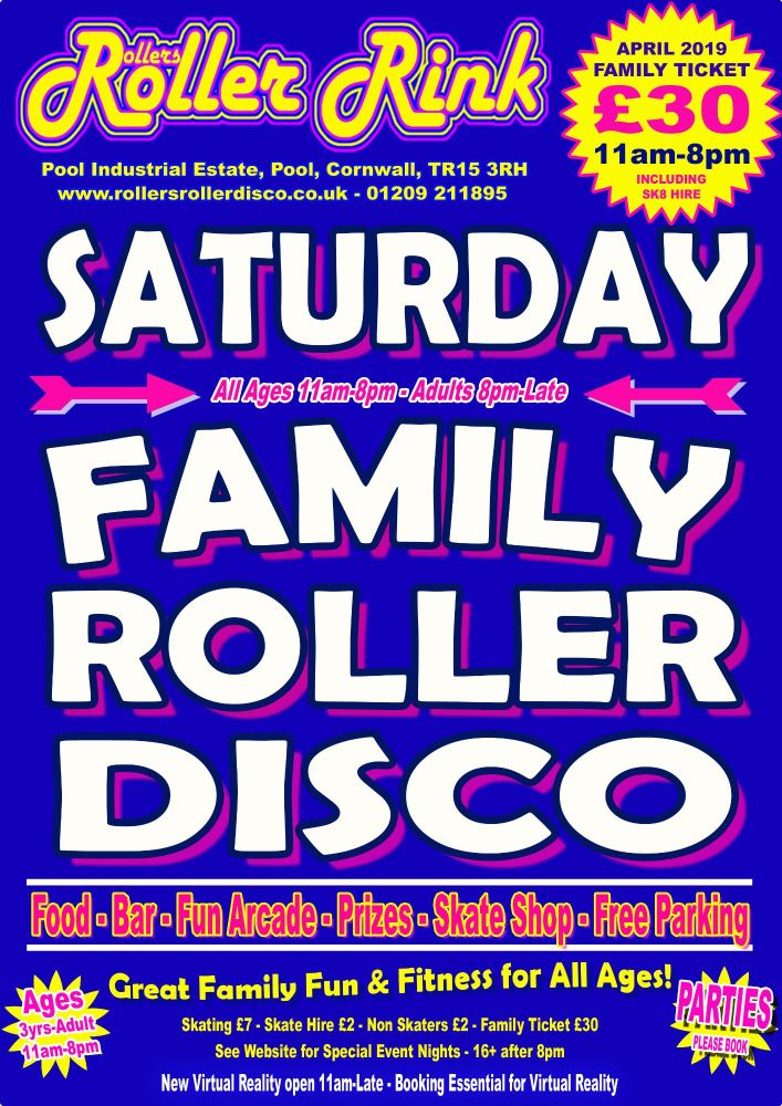 Saturday Roller Discos April 2019
