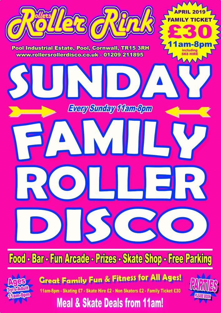 Sunday Roller Discos April 2019