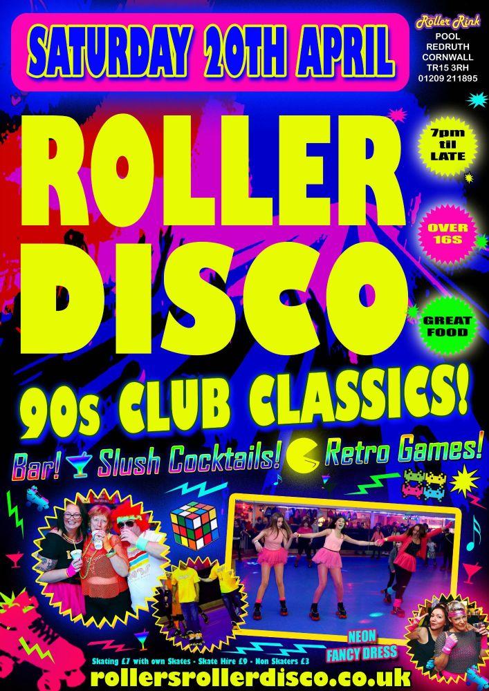 90s Club Classics Roller Disco Sat 20th April 2019