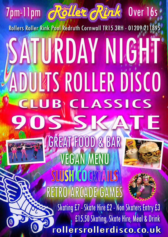 Club Classics Roller Disco Saturday Night 7pm-11pm
