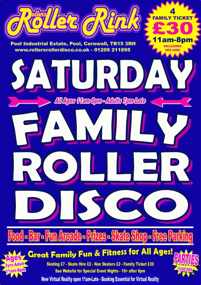 Saturday Roller Discos Cornwall May 2019