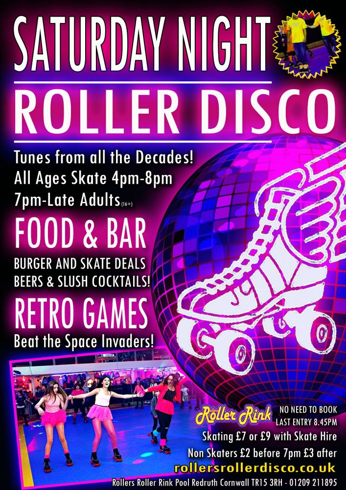 Sat Night Roller Disco Skate and Burgers 2019 May