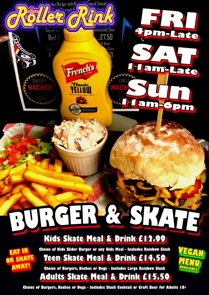 May Burger and Skate Roller Disco Cornwall
