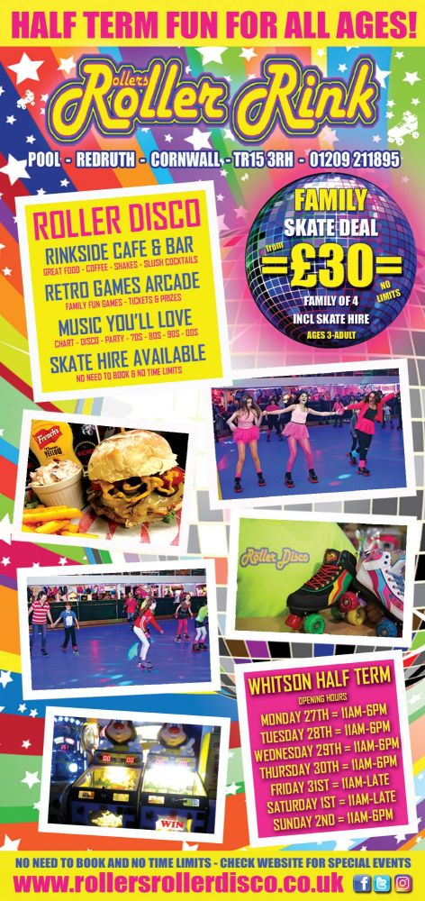 Whitson Half Term Rollers Roller Disco Cornwall May