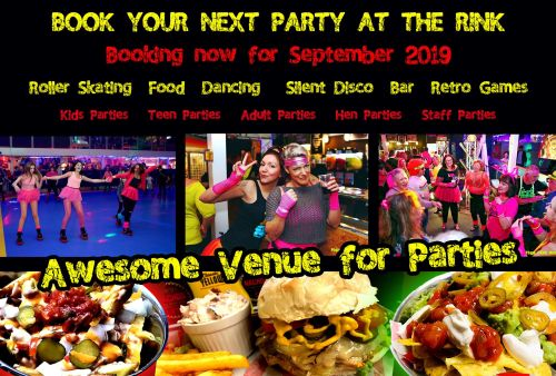 Book your next Party at the Rink Cornwall