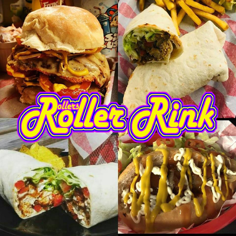 Wraps Burgers Dogs at the Roller Rink this Summer