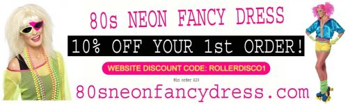80s Neon Fancy Dress Discount Code Voucher
