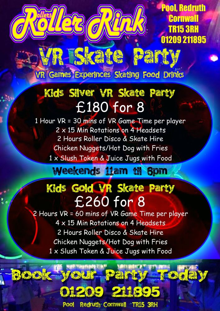 Kids VR Skate Party & Meal Aug 2019