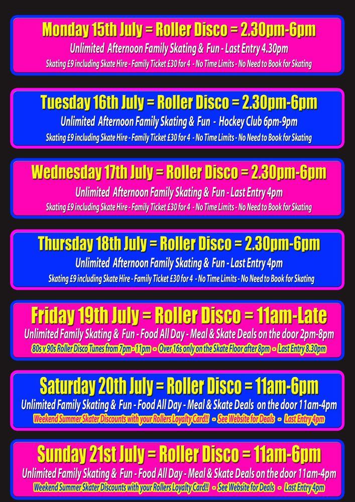 Summer Roller Disco Cornwall 2019 Week 1