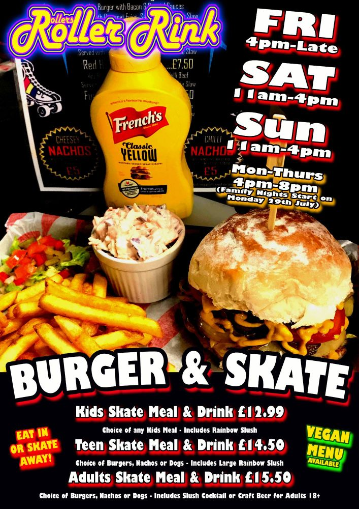 July 19th-21st Burger and Skate Roller Disco Cornwall