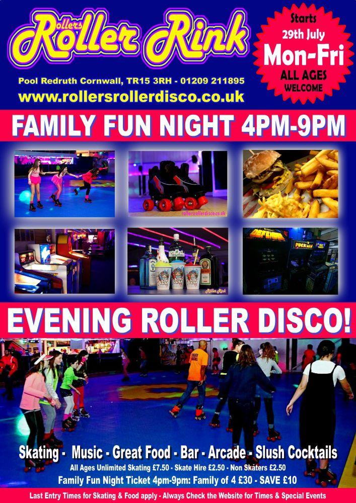 Weekday Summer Evening Roller Discos Cornwall 2019