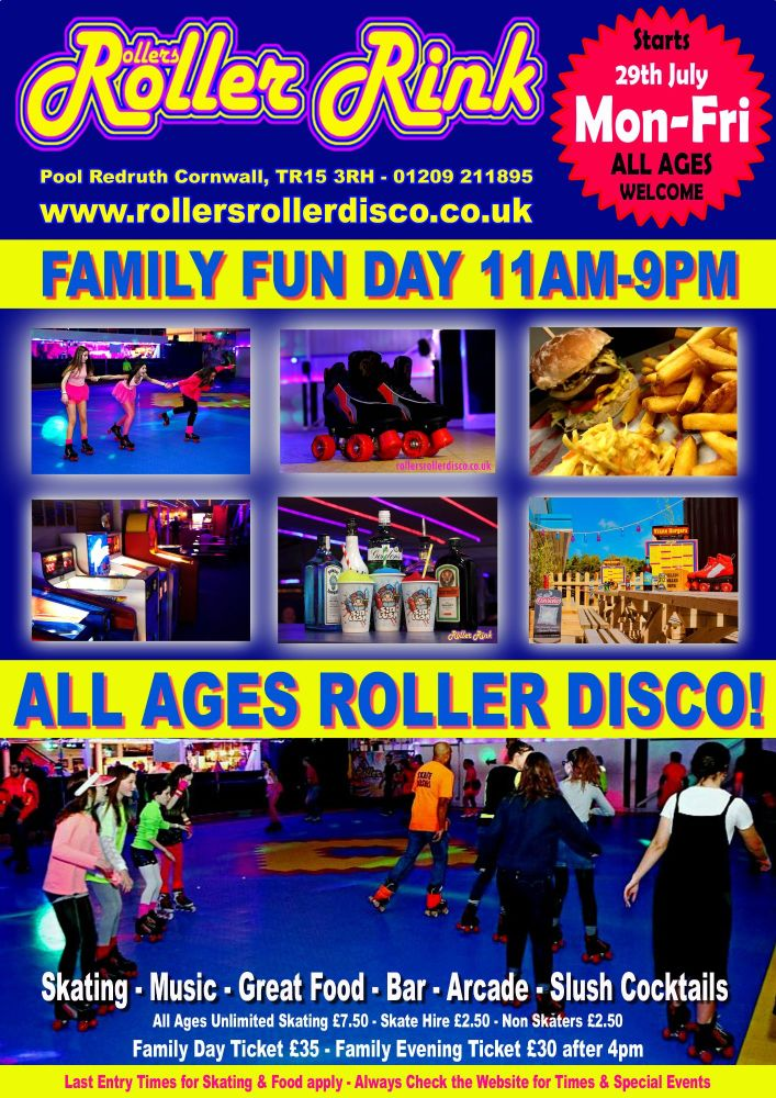 Summer Fun Day Roller Discos 11am-9pm