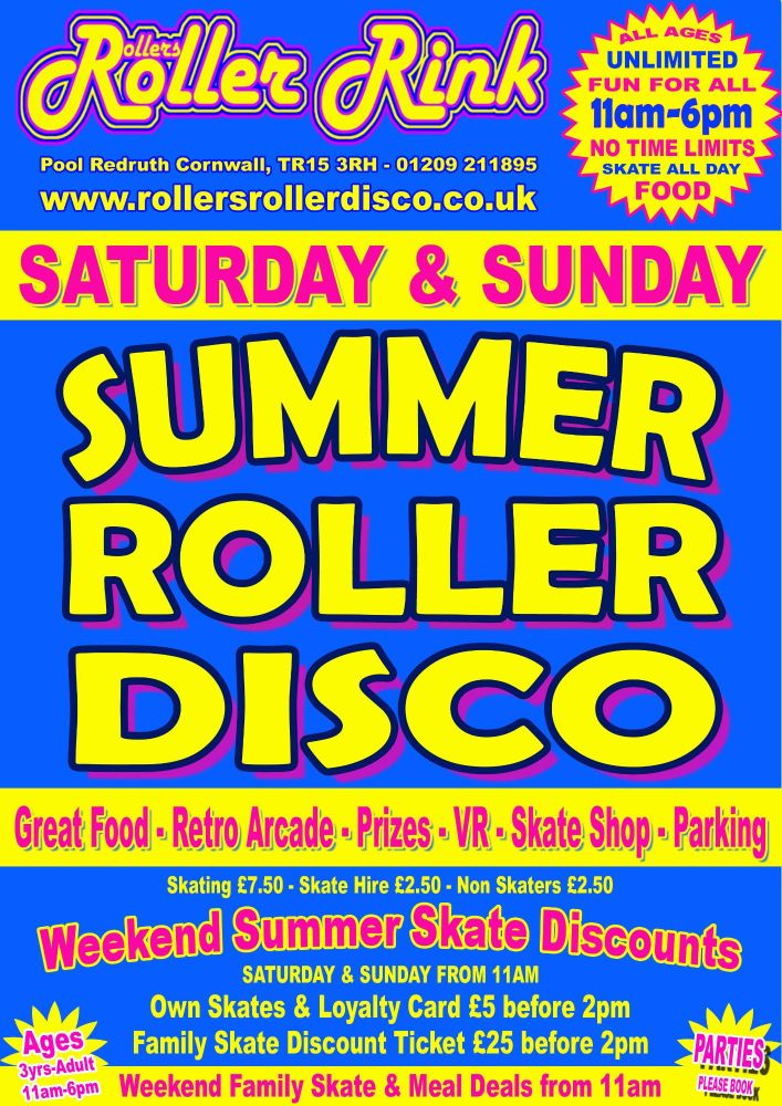 Weekend Summer Roller Disco July August 2019