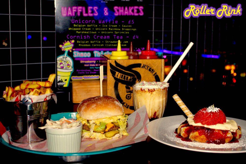 Burger, Shakes and Waffles at the Rink Cornwall