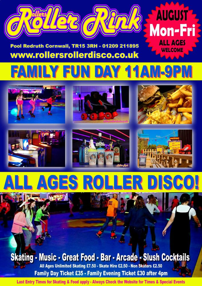 August Roller Discos Cornwall 2019