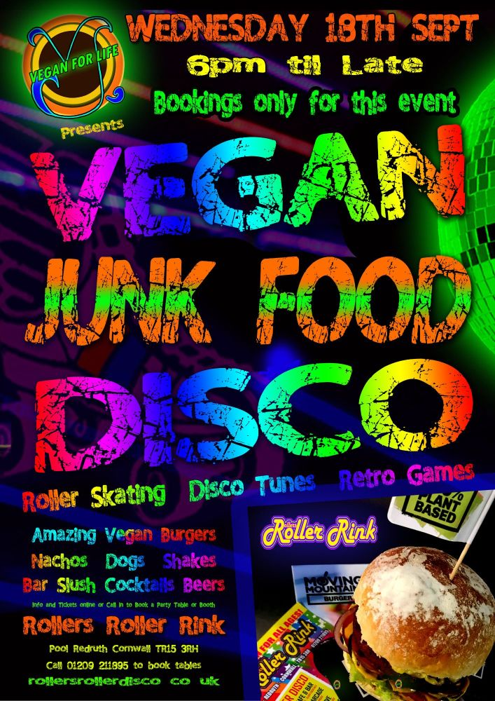 Vegan Junk Food Disco - Wednesday 18th September