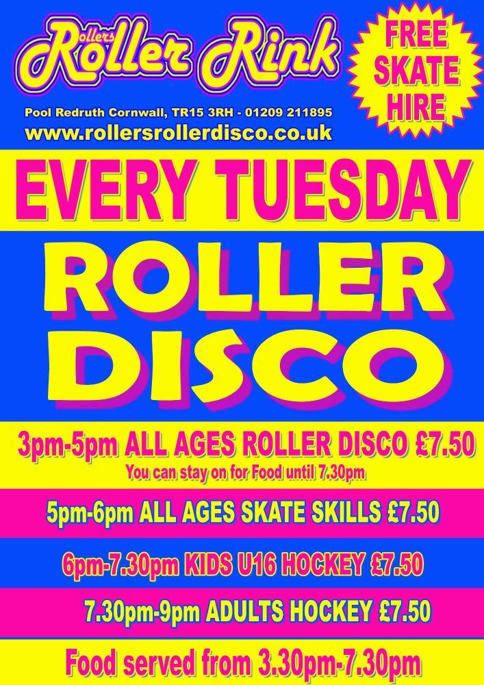Rollers Roller Rink Pool  Redruth Cornwall