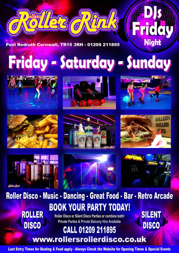 Weekend Roller Disco and Silent Disco Party Cornwall 2019