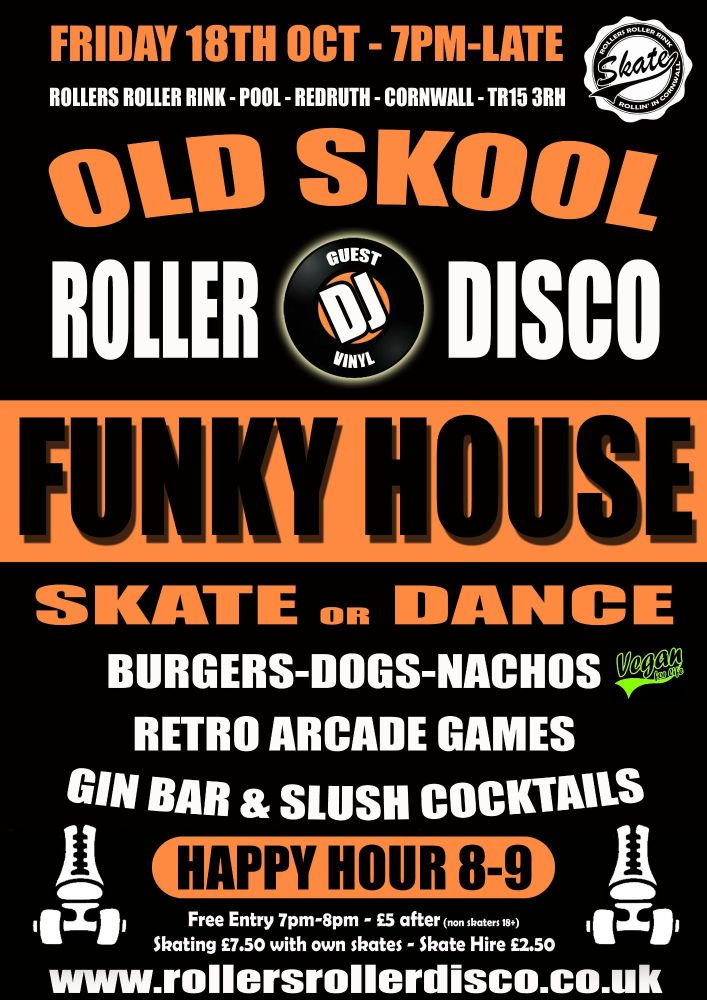 Funky House Roller Disco Friday 18th Oct