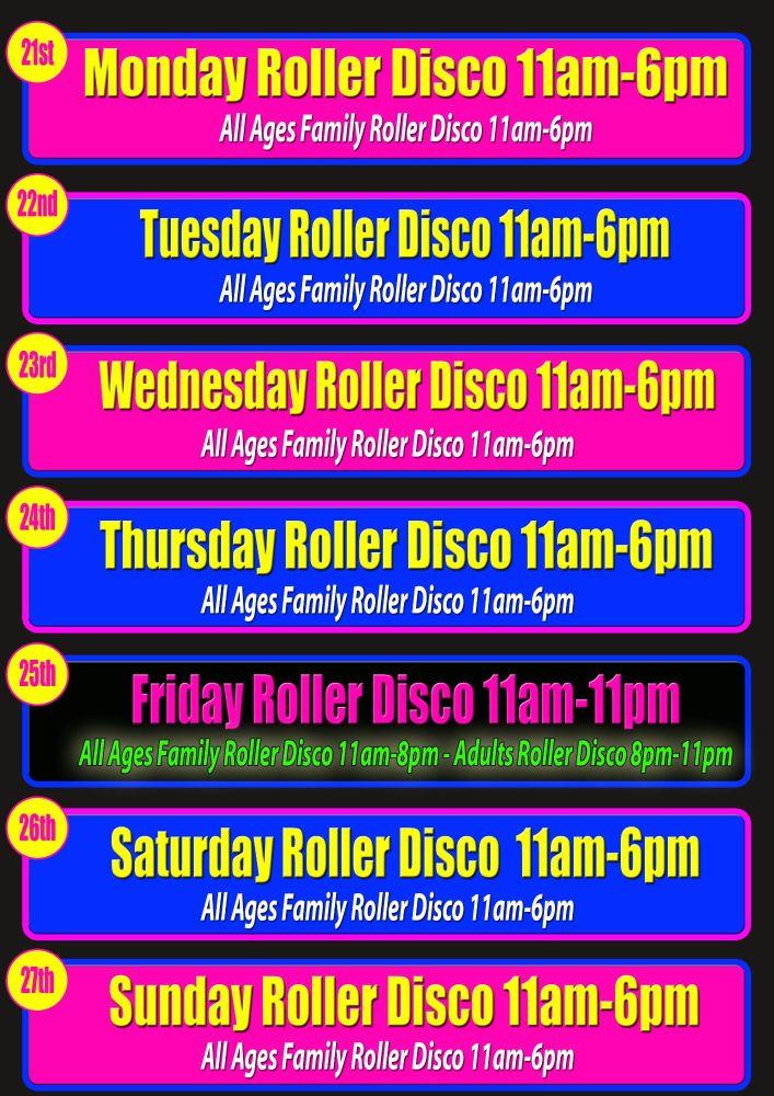 Half Term Roller Disco Cornwall October 2019
