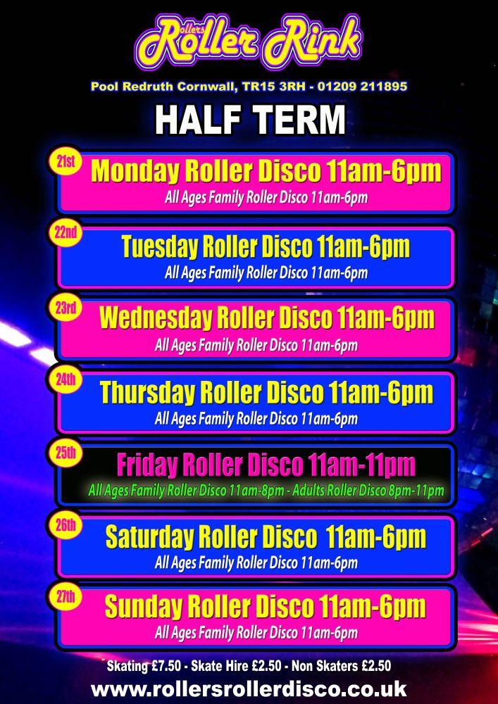 Half Term Family Roller Disco Oct 2019