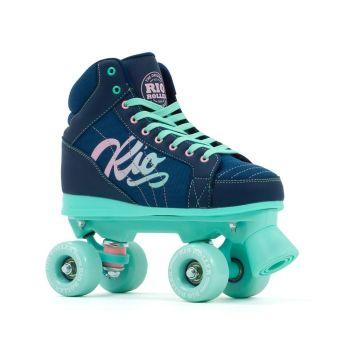 Rio Roller Lumina Quad Skates - Navy/Green