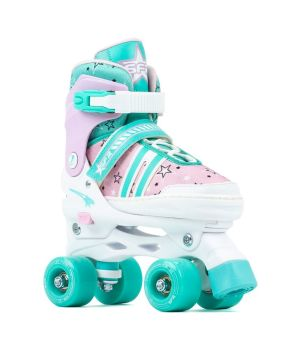 SFR Spectra Adjustable Child's Roller Skates - Pink/Green