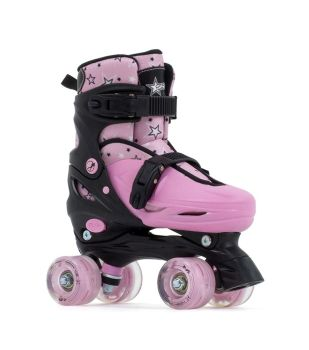 SFR Nebula Lights  Child's  Adjustable Roller Skates with Flashing Wheels