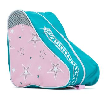 Rio Roller Skates Carry Bag - Pink/Green Star