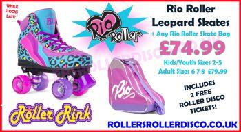 Rio Roller Leopard Skates & Rio Skate Bag Deal