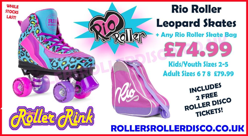 Rio Roller Leopard Skates Deal with Bag