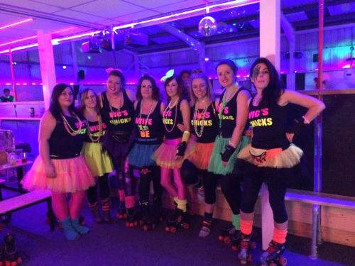 Vics Chicks Hen Night Roller Disco Cornwall