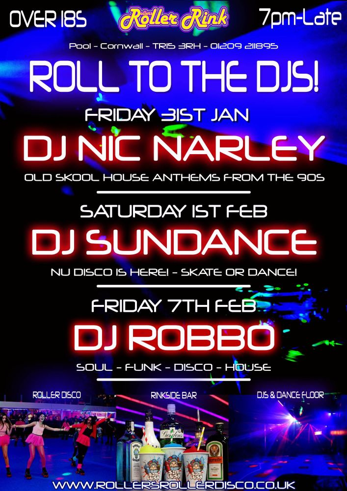 Roll to the Djs Cornwall Roller Disco Rink 3117