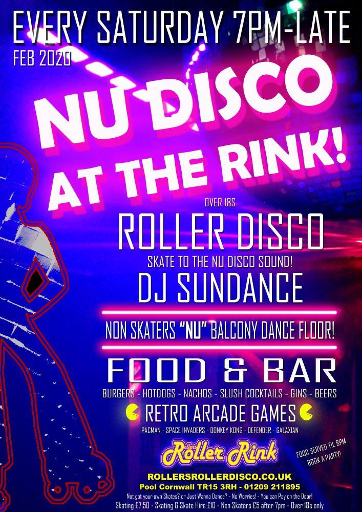 Nu Disco Roller Disco Every Saturday Feb 2020