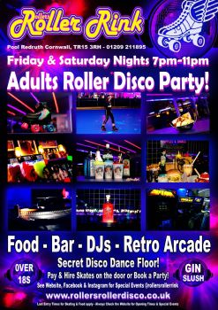 Adults Friday Saturday Roller Disco Cornwall 2020