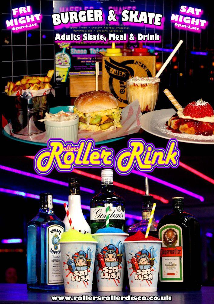 Aduls Burger and Skate Roller Disco Cornwall Friday & Saturday Night 2020