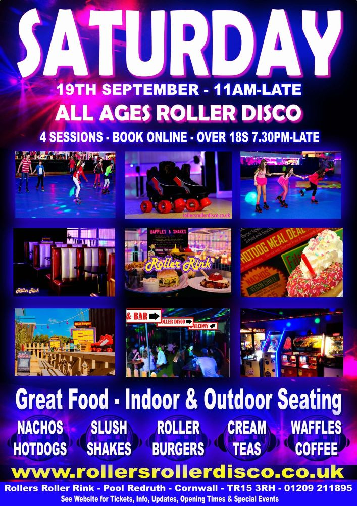 Saturday Roller Disco Cornwall 2020 Sept 19th
