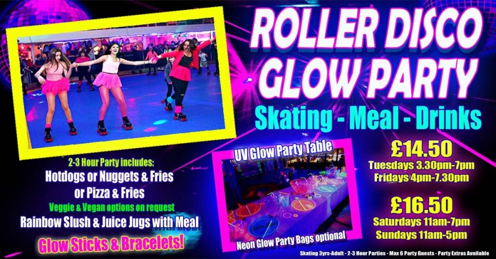 Roller Disco UV Glow Skate Party 2020