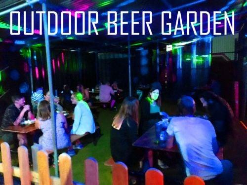 Beer Garden at the Roller Disco