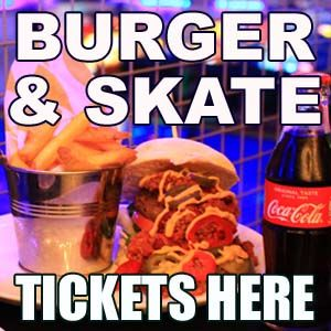 Burger and Skate - Adults Roller Disco,  Meal & Drink